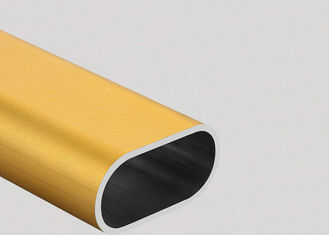 Colorful Flat Oval Aluminum Tubing  6061 Preciously Cutting Deep Process